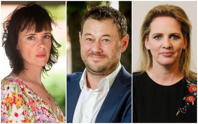 Liesa Naert, Bart De Pauw en Maaike Cafmeyer.