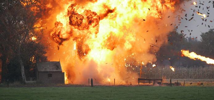 De boerderij zou eigenlijk vrijdag in brand gaan voor de opnames