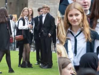 Exclusieve foto's tonen prinses Elisabeth op traditionele 'Matriculation Day' op haar Britse school