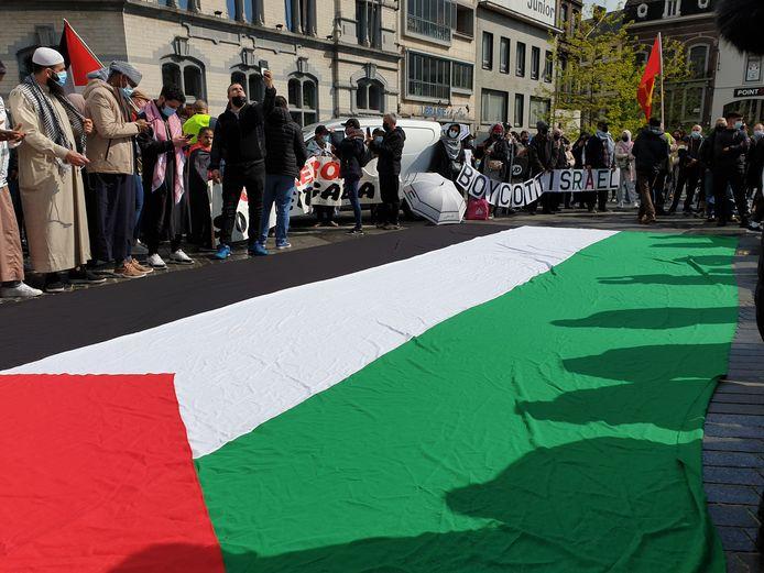 La manifestation pro-palestinienne a attiré du monde et s'est déroulée dans le calme à Charleroi