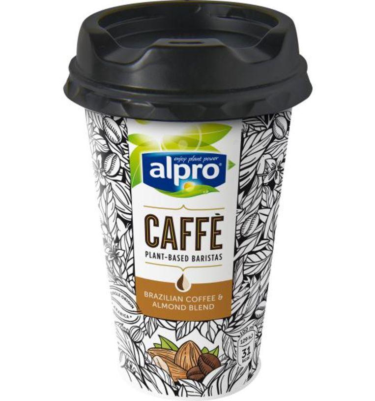 Koude koffie van Alpro. Beeld Florine Jongma