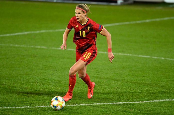 "Red Flame Justine Vanhaevermaet (28): ""Ik zou me geen laatbloeier noemen, maar er is wel nog veel progressie""   Vrouwenvoetbal   hln.be"