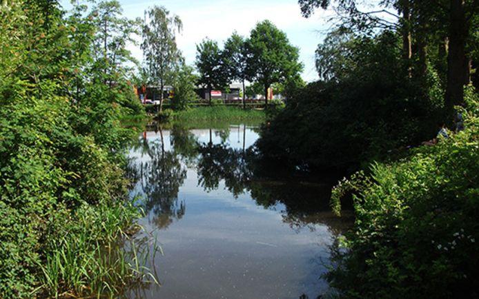 De groenstrook bij het Soesterkwartier.