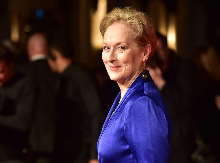 Meryl Streep bij de première van Suffragette. Beeld afp