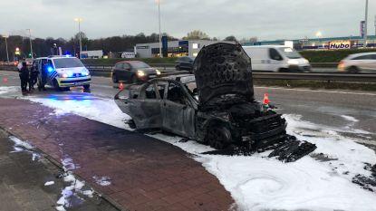 Mercedes brandt uit vlak bij IKEA Wilrijk