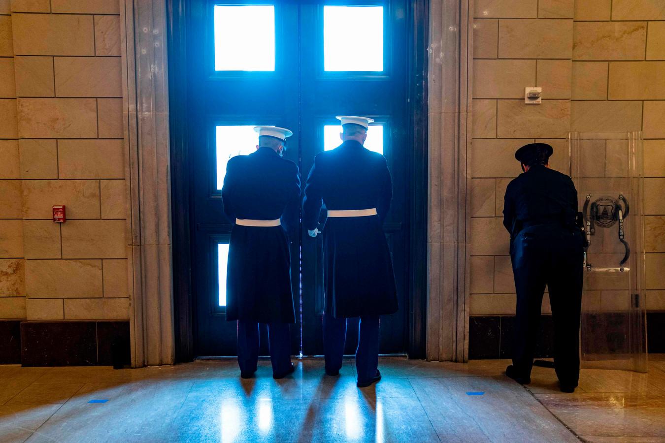 De deuren van het Capitool gaan op slot.