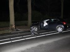 Automobiliste gewond bij botsing tegen boom in Steenbergen