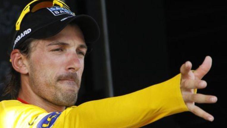 Fabian Cancellara tijdens de Tour. Foto ANP Beeld