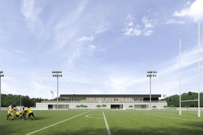 Een eerste ontwerp voor sportsite Uilmolenweg in Mechelen.