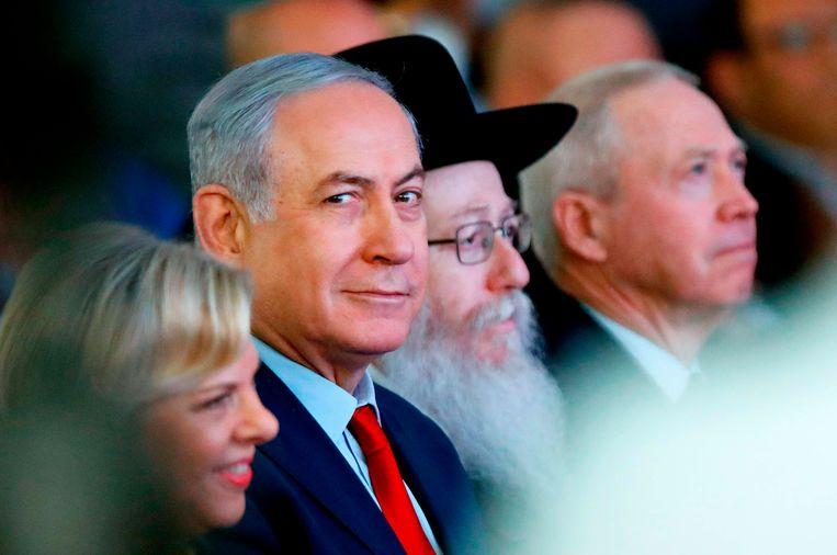 De Israëlische premier Benjamin Netanyahu Beeld AFP