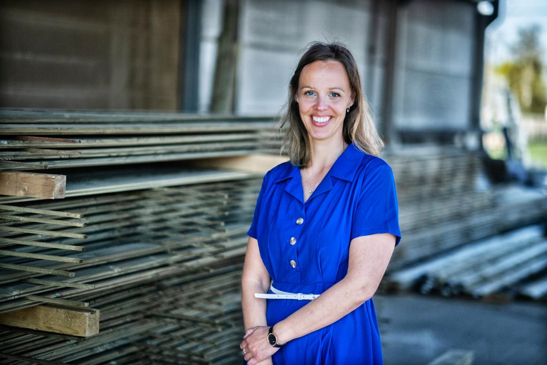 Ann-Lien Lievens, leerkracht Nederlands in Deinze: 'Als een leerling 'groter als' schrijft, trek ik een half puntje af'.  Beeld Tim Dirven