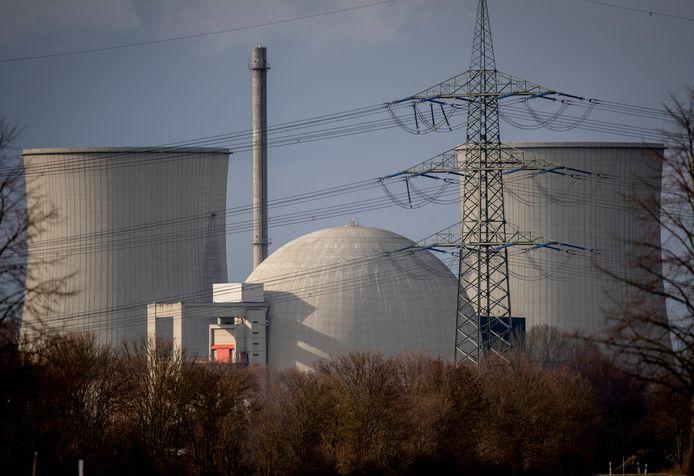 De inmiddels gesloten kerncentrale in Biblis, bij Frankfurt in Duitsland.