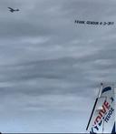 Voetballiefhebbers deelden dit beeld in hun groeps-app, waaruit blijkt dat het vliegtuigje is opgestegen vanaf Teuge.