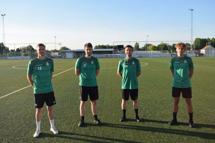 Nieuwkomers Gilles Puttevils, Dries Nys, Kenneth Stiers en youngster Gilles Adams tekenden present op de zonovergoten training van maandagavond.