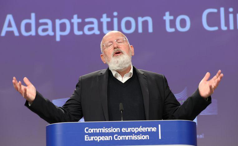 Eu-commissaris Frans Timmermans. Beeld Anadolu Agency via Getty Images
