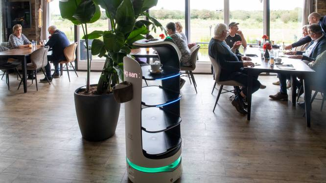 Te weinig personeel, dus werken robots in de bediening van dit Wageningse restaurant: 'Zoiets nog nooit gezien'