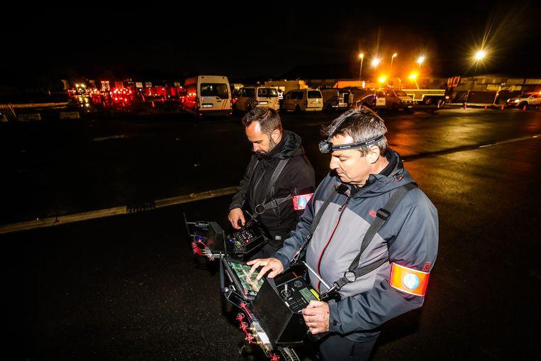 Bij de actie werd ook een drone ingezet