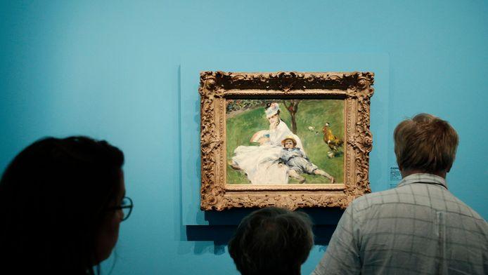 Een ander Renoir-schilderij: Madame Monet et son fils Jean dans le jardin a Argenteuil.