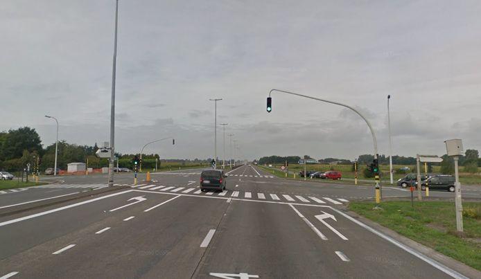 Het ongeval gebeurde aan het kruispunt.