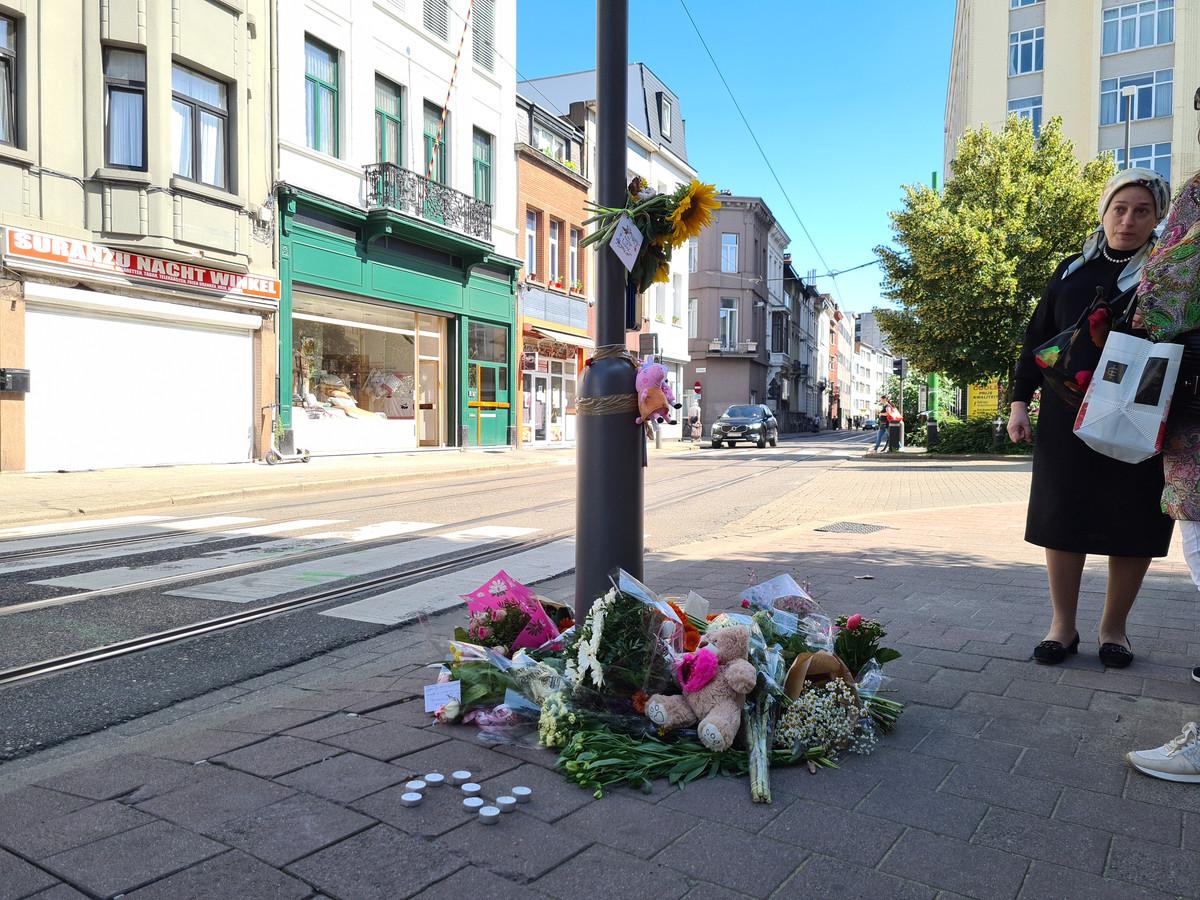 Het kruispunt waar de meisjes dinsdag overleden.