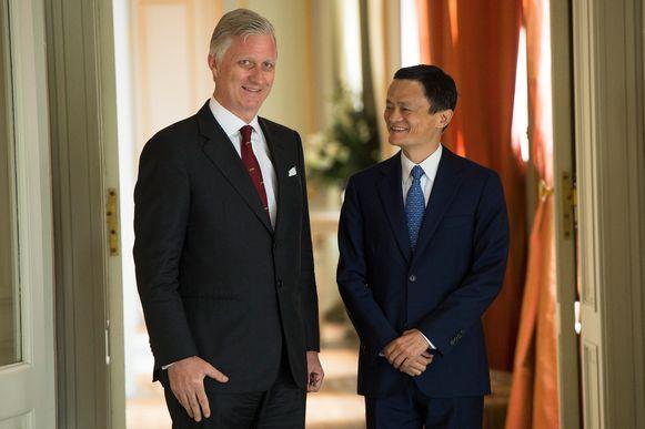 Koning Filip was in 2015 op staatsbezoek in China. Hij ontmoette toen onder anderen president Xi Jinping en de Alibaba-miljardair. Een jaar later kwam die op bezoek op het paleis in Laken