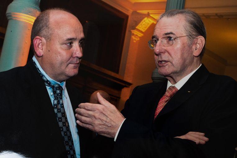 Ilegems met Jacques Rogge, de voormalige president van het Internationaal Olympisch Comité.