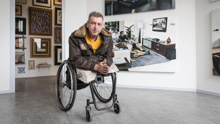 Rob Scholte: 'Denk je dat ik in mijn rolstoel verzet kan plegen tegen tien politieagenten?' Beeld Dingena Mol