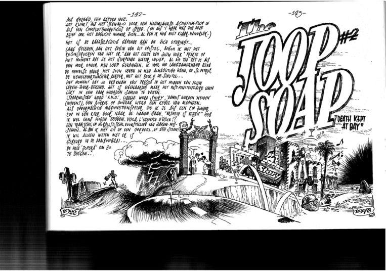 Uit Pontiacs meesterwerk Kraut, een boek over zijn vader, die in de Tweede Wereldoorlog lid was van de Waffen-SS. Beeld Peter Pontiac