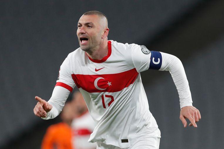Burak Yilmaz, 35 jaar, 67 interlands voor Turkije, 29 doelpunten. Beeld Murad Sezer/AP