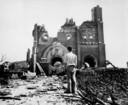 De Urakami kathedraal in Nagasaki werd grotendeels verwoest door de bom.