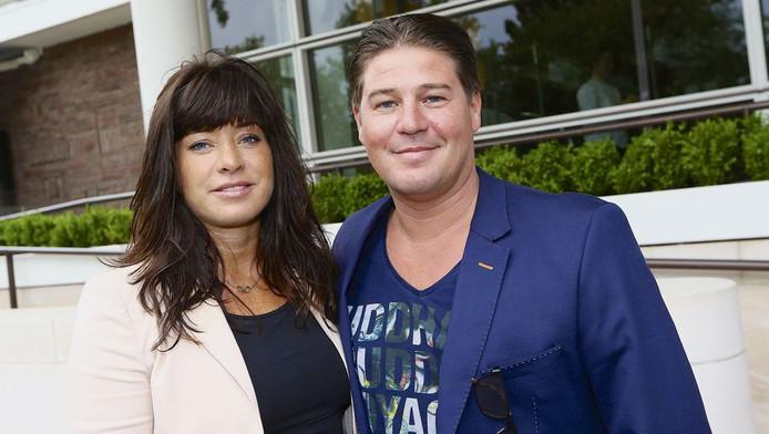 Martijn en Amanda Krabbe tijdens de jaarlijkse haringparty in het Hilton hotel.