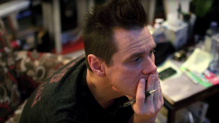 Ernstige blik op oneindig: Jim Carrey speelt misschien wel de rol van zijn leven als kunstenaar. Beeld RV