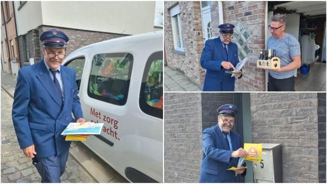 """Ronny 'De Facteur' doet in eerste kostuum zijn allerlaatste ronde voor Bpost: """"Zoveel briefjes en geschenkjes gekregen"""""""