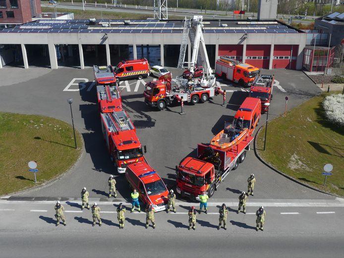 De brandweer van Deinze hier op archiefbeeld.