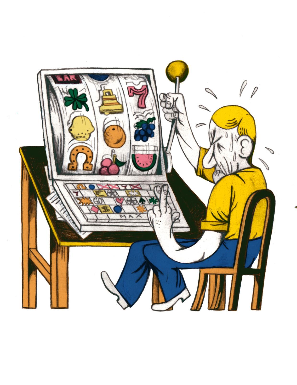 'Op mijn 8 jaar begon ik goud te verzamelen in de game 'Runescape'. Was ik daar niet mee begonnen, dan was ik vandaag niet gokverslaafd .' Beeld Lukas Verstraete