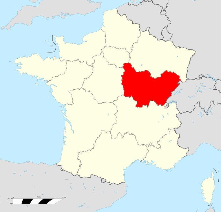 Bourgogne-Franche-Comté. Beeld Creative Commons 4.0