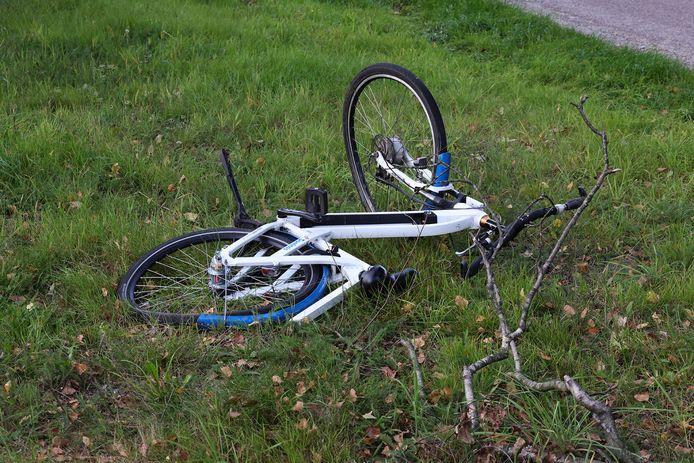 Een fiets in de berm.