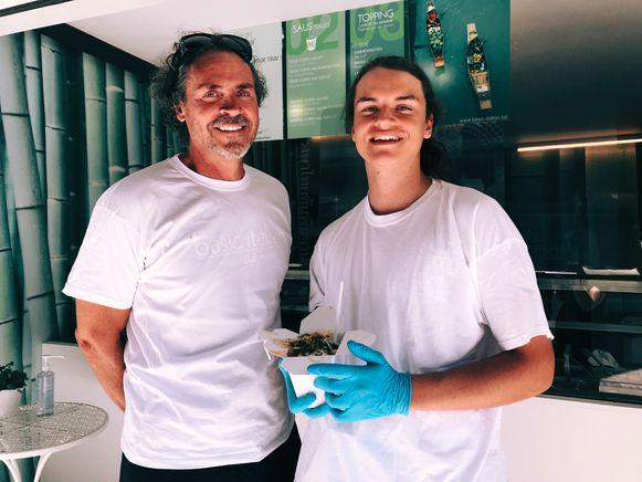 Christophe en zijn zoon Noah.