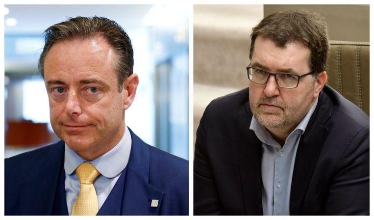 Antwerps burgemeester Bart De Wever (N-VA) en Groen-lijsttrekker Wouter Van Besien waren het onderwerp van enkele verkiezingspagina's. Beeld PhotoNews