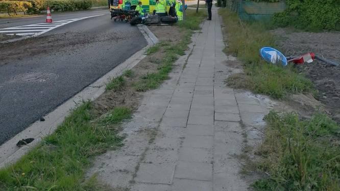Ongeval aan asverschuiving Hombeeksesteenweg