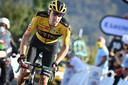 Tom Dumoulin in actie in de Tour de France.