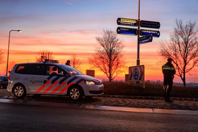 Zoekactie naar oude dame in Oud-Beijerland. Foto gekregen van de politie zelf. Kan ook goed gebruikt worden als stockbeeld bij politie Hoeksche Waard-verhalen