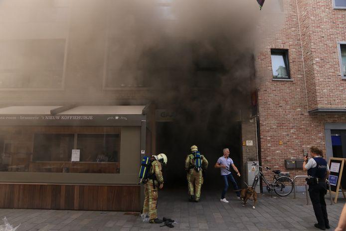 De gaanderij liep zware schade op bij een hevige brand in augustus vorig jaar.
