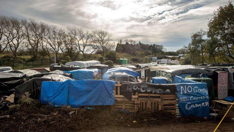 Impressie van de 'jungle' van Calais. Beeld anp
