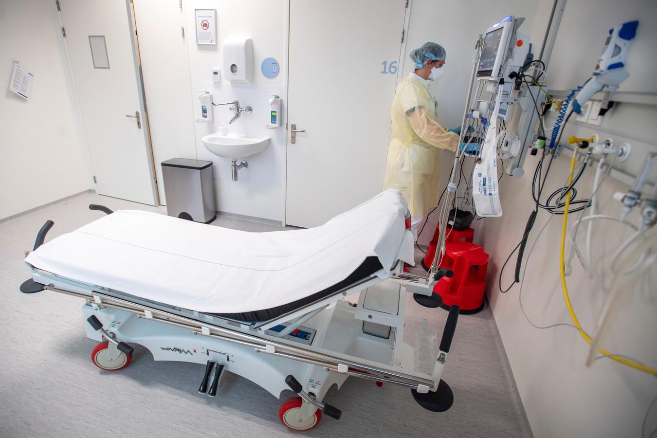 Een isolatiekamer in het Amphia Ziekenhuis in Breda.