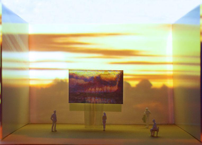 Ralph Keuning over Mondriaan in de animatie: 'Een betoverende ervaring, net een lsd-trip.' Beeld null
