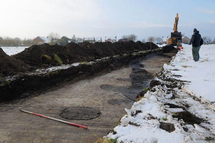 Archeologisch onderzoek in 2017, voor de nieuwbouw.
