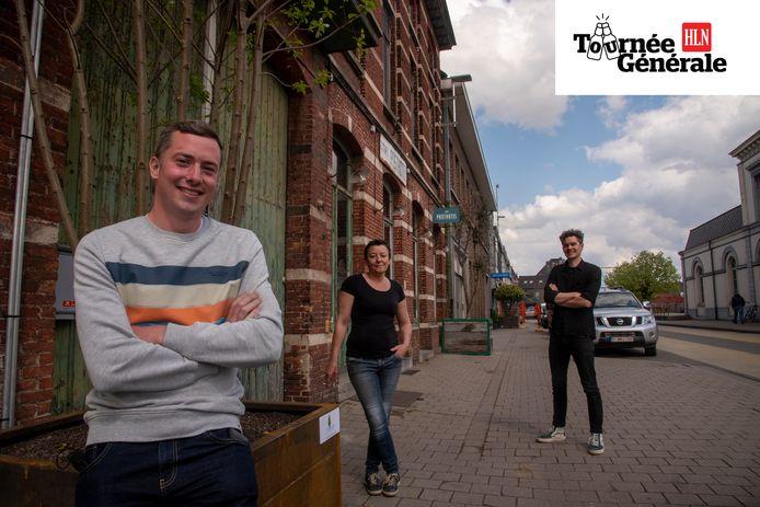 Tom Meganck, Corine Verschueren (Retaar) en Kasper De Moor (Posthotel).