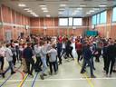 Voor de leerlingen was het een dag vol beweging, spelletjes en praatrondes.