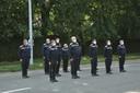 Ook de brandweer van Edegem hield een minuut stilte voor de slachtoffers.